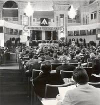 """1970: 3. Internationaler Produktivitäts-Kongress zum Thema """"Management der Zukunft"""" mit 500 TeilnehmerInnen aus 38 Nationen"""